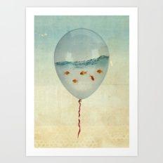 Balloon Fish Art Print
