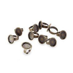 "10 Vintage Retro Bronze Oval Metal Ring Flat Pad Base Blank 0.71x0.55"" HOT Facilla http://www.amazon.com/dp/B00E0D2ERU/ref=cm_sw_r_pi_dp_EKvTub063QQ7B"