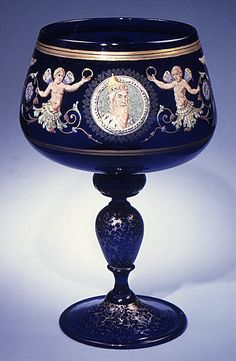 Goblet Salviati and Co. Enamelled: Venice (Murano), Glass♥≻★≺♥