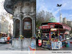 Kioske, älter und jünger, Sultanahmet, Istanbul  Ein Turzismus, ischwör! Kiosk = kiosque = köşk  http://laytmotif.de/ein-turzismus-ischwor/