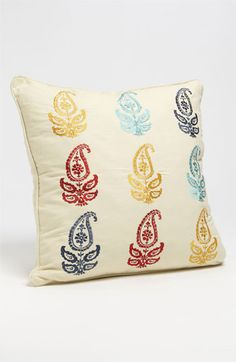Levtex Embroidered Paisley Pillow available at Nordstrom