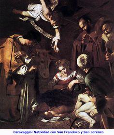 03-26 Caravaggio Natividad con San Francisco y San Lorenzo