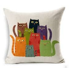 Resultado de imagem para gatos coloridos na cerca