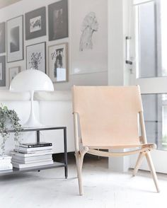 We never stop admiring this lovely shot of the By Lassen Saxe Chair by the super talented @stylizimoblog ... Available in our showroom and online store. #urbancouturedesigns #bylassen #saxechair #leatherchair #scandinaviandesign