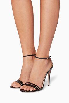 57c1d2701aee Shop Gucci Black Black Ilse Crystal-Bow Sandals for Women