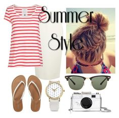 """""""Summer Style"""" by smefford on Polyvore featuring Donna Karan, Aéropostale, BillyTheTree, Ray-Ban, Kate Spade, women's clothing, women, female, woman and misses"""