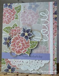 Mothers Day card Stampin up I like you stamp set. details and video tutorial on blog