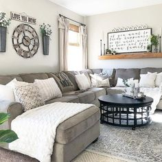 38 Living Room Farmhouse Style Decorating Ideas - Popy Home