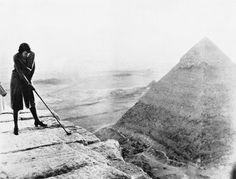 Another tricky shot - teeing off from a pyramid in Egypt
