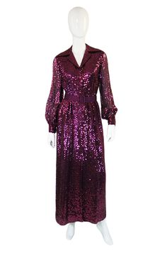 1970s vintage Oscar sequin dress