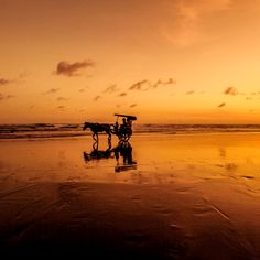 'Sunset View in Parangtritis Beach' on Picfair.com