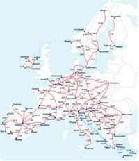 eurail map with travel times click for a bigger view