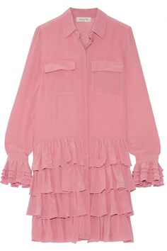 Paul & Joe | Ealienor ruffled silk crepe de chine mini dress | NET-A-PORTER.COM