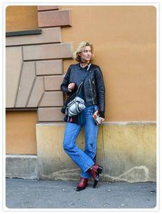 On the street Via Palestro Milano