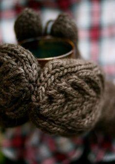 hellosmitten:  antler mittensluxe and cushy cabled mittens  by Alexa Ludeman