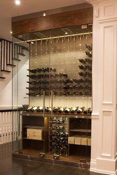 modern wine cellar cable wine system 14 #WineRoom