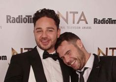 Danny and Adam at the NTA's {2017} Danny Miller, Grease, Abraham Lincoln, Monkey, Celebrity, English, Jumpsuit, Monkeys, Celebs