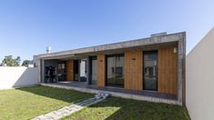 estudio moire encloses atelier gael in light-filled concrete shell Timber Planks, Sawn Timber, Shell House, Outdoor Dining, Outdoor Decor, Exposed Concrete, Private Garden, Room Colors, Home Art