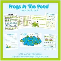 Frogs In The Pond Preschool Pack