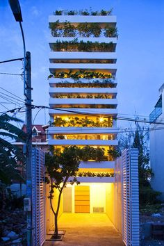 In the ever increasing need for food and expensive transportation, architechts are finding solutions all over the world. This one is expensive, but gorgeous.