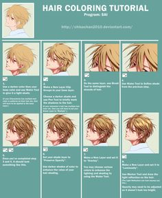HAIR COLORING TUTORIAL by chisacha