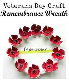 Day Craft Poppy wreath for Veterans and Remembrance Day. /mlPoppy wreath for Veterans and Remembrance Day. Memorial Day Coloring Pages, Veterans Day Coloring Page, Toddler Art Projects, Easy Art Projects, Preschool Crafts, Crafts For Kids, Preschool Learning, Teaching Art, Veterans Day Poppy