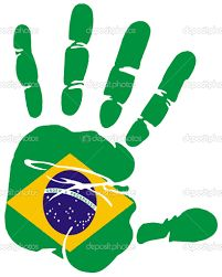 Hand print impression of flag of Brazil Vector Samba Brazil, Brazil Flag, Flag Vector, Vector Art, Wold Cup, Soccer Theme Parties, Soccer Flags, Argentina Flag, Chile