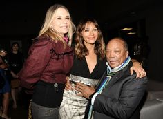 Peggy Lipton, Rashida Jones, and Quincy Jones