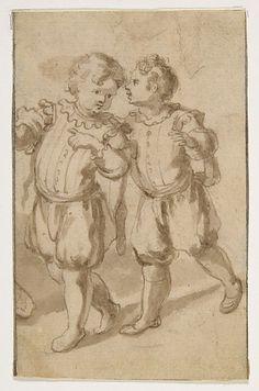 "Two Young Page-Boys Artist: Bernardino Rodriguez (""Bernardino Siciliano"") (Italian, documented (?) Sicily 1600–1650) Date: 1600–1650"
