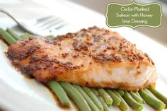 #Delicious Cedar- Planked Salmon with Honey-Lime Dressing #Fish #Recipe #GlutenFree