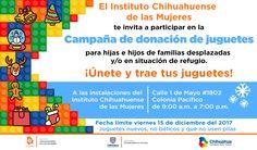 Invita Ichmujeres a donar juguetes para niñas y niños de familias desplazadas o en situación de refugio   El Puntero