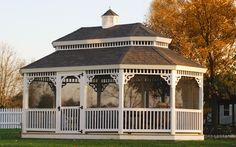 Oblong gazebo with screens Gazebo Photos | Backyard Ideas | Amish Country Gazebos