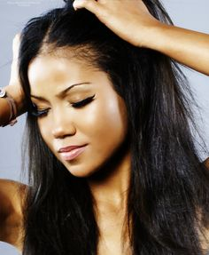 Jhene Aiko. I literally know every song of hers. She makes beautiful music!