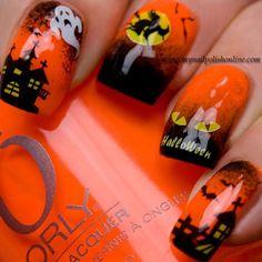 haloween by mynailpolishonline   #nail #nails #nailart
