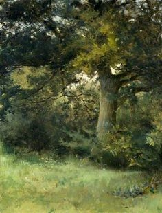 Sarah Paxton Ball Dodson - An Oak Tree, Green Hedges, East Grinstead, Sussex c.1981