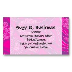 Hot Pink Blue Paisley Print Summer Fun Girly Patte Business Card Templates | Pretty Business Cards