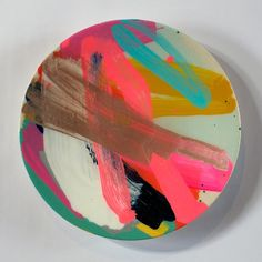 Rowena Martinich and Geoffrey Carran; Glazed Ceramic Plate, Not exactly my taste but its certainly interesting click now for more. Ceramic Plates, Ceramic Pottery, Ceramic Art, Keramik Design, Keramik Vase, Art Abstrait, Contemporary Ceramics, Deco Design, Pottery Painting
