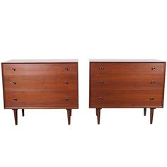 Vintage Walnut Chest of Drawers by Robert Baron | From a unique collection of antique and modern dressers at https://www.1stdibs.com/furniture/storage-case-pieces/dressers/