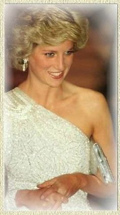 November 11, 1985: Princess Diana at a gala dinner at the National Gallery of Art in Washington, DC.