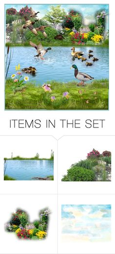 """""""Spring at the Pond ..."""" by krusie ❤ liked on Polyvore featuring art"""