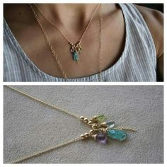 Colorful bohemian necklace by ATELIER Gaby Marcos