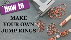 Learn how to make your own jump rings for your jewellery projects with my step by step tutorial. In this video, I'll show you two ways to make jump rings by . Jewelry Tools, Jewelry Findings, Wire Jewelry, Make Your Own Jewelry, Jewelry Making, Chainmaille, Wire Work, Wire Wrapping, Lily