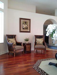 Living room interior design by Chi Nguyen & Kristian McKeever, Baer's Furniture Melbourne, FL