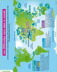 les différentes mers dans le monde