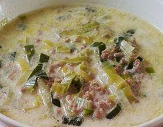 Hackfleisch Käse-Lauch-Suppe von HotTomBBQ auf www.rezeptwelt.de, der Thermomix ® Community