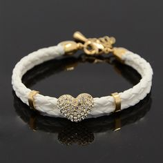 PandaHall Jewelry—PU Leather Bracelets with Alloy... | PandaHall Beads Jewelry Blog. Use for inspiration