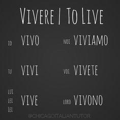 Learning Italian Language ~ vivere | to live