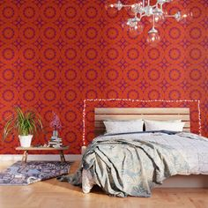 IMPORTANT: make sure to order enough panels to cover your wall or surface (size options below). Our peel and stick Wallpaper is easy to apply and take off, leaving no adhesive residue. Featuring sharp, vibrant images, Wallpaper patterns are ideal for accent walls, flat surfaces and temporary installations (like parties!). Available in three floor-to-ceiling sizes. - Panel size options in feet: 2' (W) x 4' (H), 2' x 8', 2' x 10' - Printed on... Small Bathroom Wallpaper, Bold Wallpaper, Peel And Stick Wallpaper, Pattern Wallpaper, Vintage Bathroom Decor, Outdoor Floor Cushions, Decorating Small Spaces, Fabric Panels, Designer Wallpaper