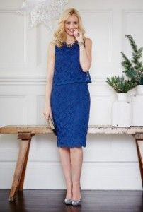 Tall Lace Double Layer Dress at Long Tall Sally