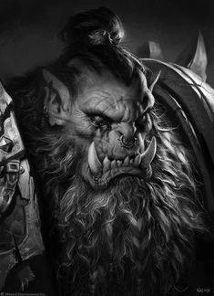 Warcraft Film, Art Warcraft, World Of Warcraft Orc, Orc Warrior, Fantasy Warrior, Fantasy Rpg, Dark Fantasy, Character Portraits, Character Art